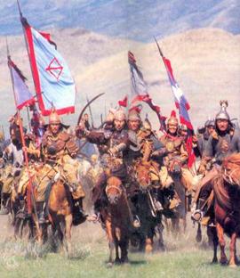 mongol horde on horseback