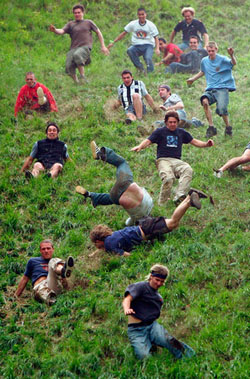 Unsafe hill rolling procedure
