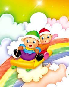 sliding down rainbow
