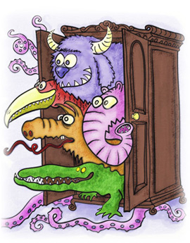 monsters in closet