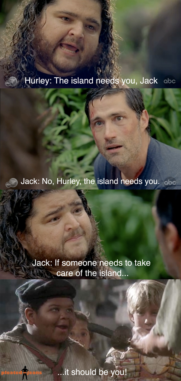 Lost Finale Hurley The Island Needs You Pic Pleated