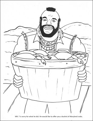 caption reads mr t is sorry for what he did he would like to offer you a bushel of maryland crabs